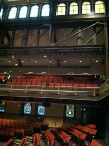Restored auditorium of the Baptist Temple